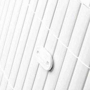 Sichtschutzmatten PVC Sichtschutz kunststoff Sichtschutz Bambus Bambusmatte doppelseitig PVC weiss