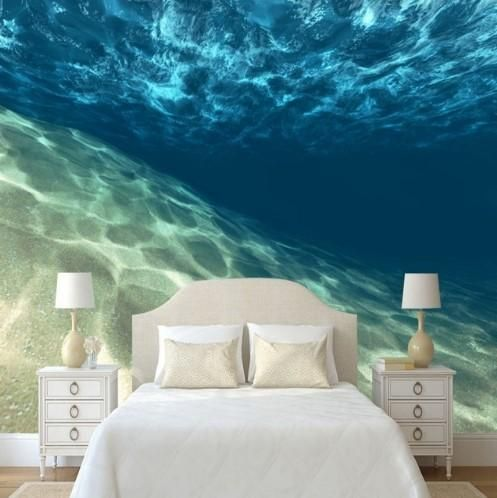 3d Stereoscopic Clear Ocean Underwater Wallpaper For Home Or