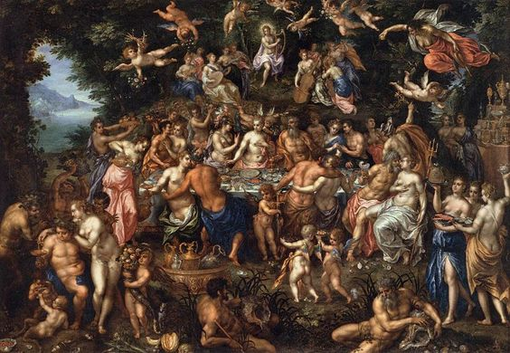 Hendrik de Clerck - The Nuptials of Thetis and Peleus 1546