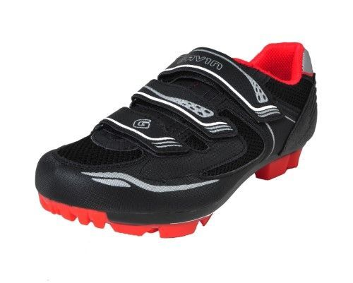 Gavin Off Road Mountain Cycling Shoes Mtb Black Red 43 Size 43