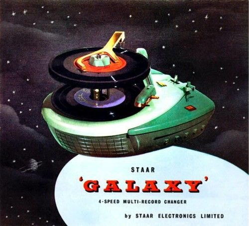 """Galaxy"" four-speed multi-record changer from STAAR, 1952."