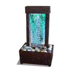 Glass lights indoor fountain and led on pinterest i found cracked glass light show led indoor fountain tabletop on wish workwithnaturefo