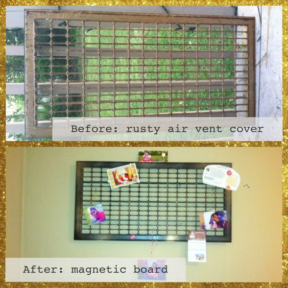 Air Ventilator Board : Air vent covers diy magnetic board and glitter spray