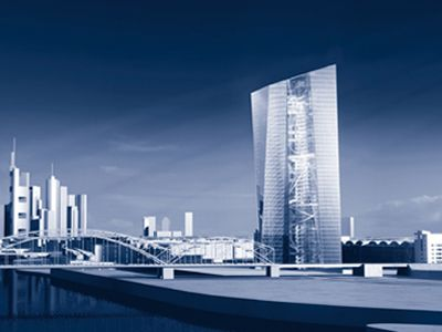 Blick auf die neue EZB aus dem Osten, Stefan Laub © Coop Himmelb(l)au