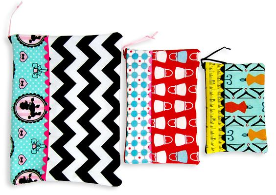 Weekend Wonders with Fabric.com: Zippered Pouches in Three Sizes   Sew4Home