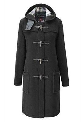 Gloverall-Womens-Original-Slim-Fit-Duffle-Coat-Black-30-0 | London
