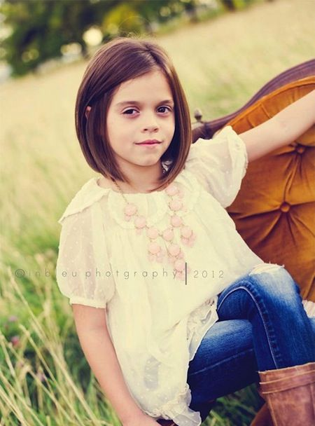 Back to school hairstyles for little girls.  Short bob haircut for fall.  Really like this cut not to short and stylish.: