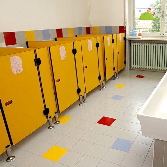 Elementary School Bathroom banheiros creche | 30 ambientes decorados para creche infantil ou