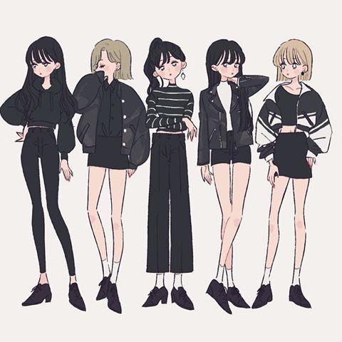 illustration イラスト 女の子 ファッション