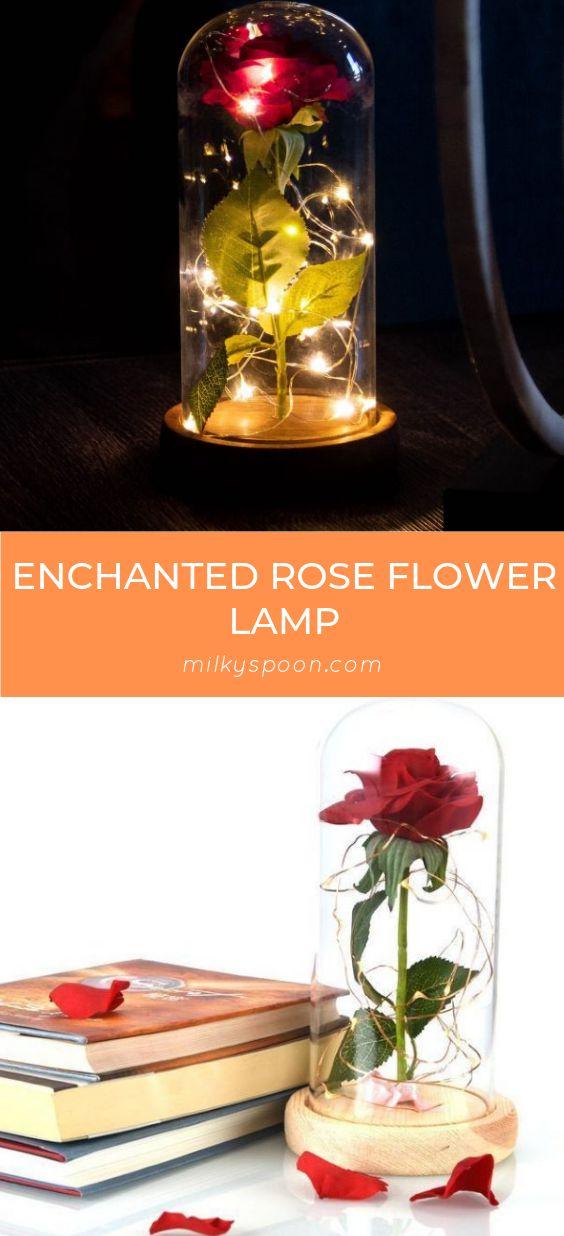 Enchanted Rose Flower Lamp Flower Lamp Enchanted Rose Rose Flower