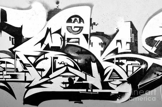 34 Grafiti Keren Hitam Putih Di 2020 Putih Hitam Seni Graffiti