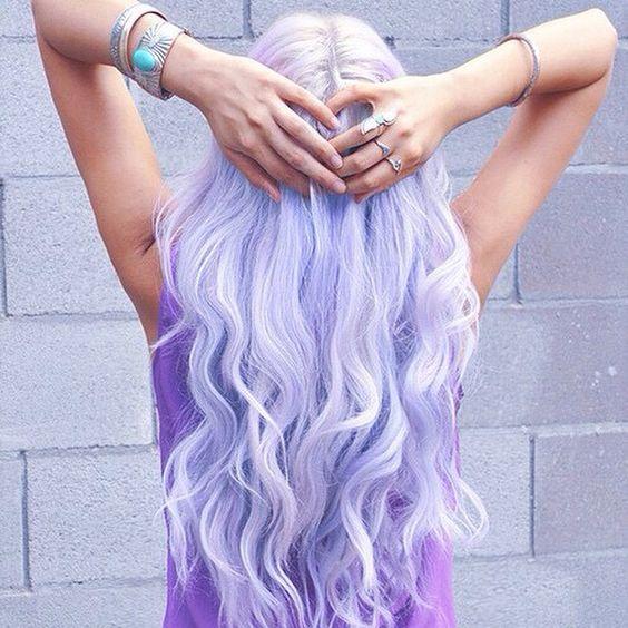 purple hair [ #hairdye ]