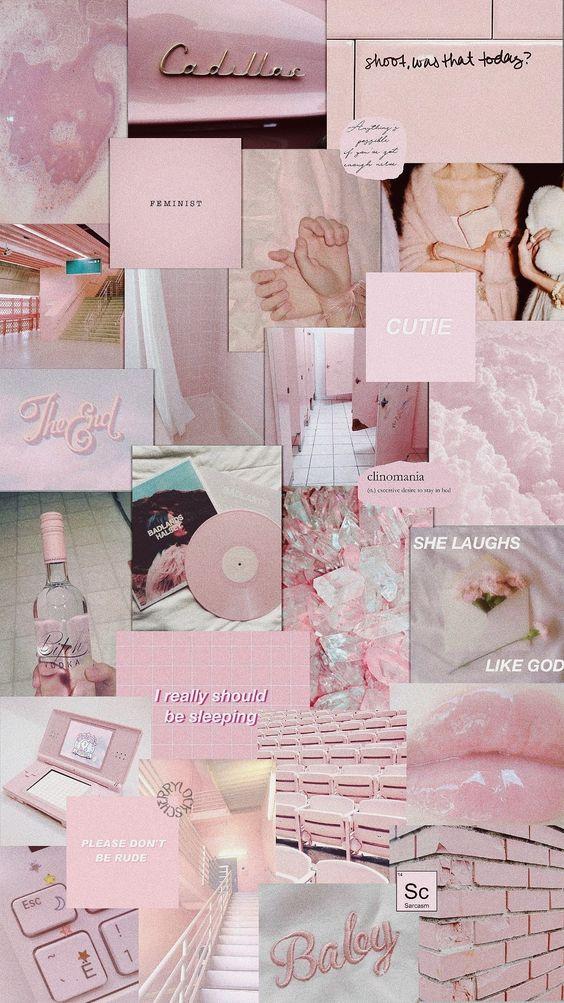 lockscreen || pink pastel ||  aesthetic