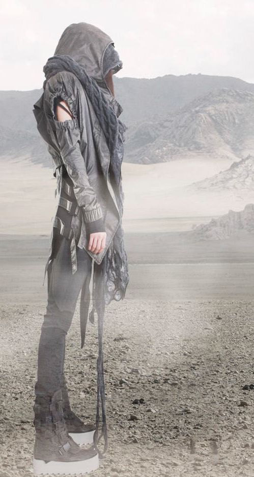 Dystopian Fashion, Demobaza. Woman AW13.   Beauty don't for now ....when the end of the world comes you'll be styling