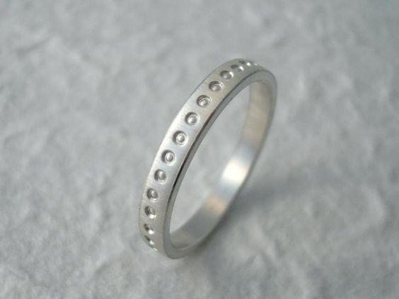 silberner Ring mit Prägemuster Design 03 von Christine Spratek - handgefertigte Unikate und Kleinserien auf DaWanda.com