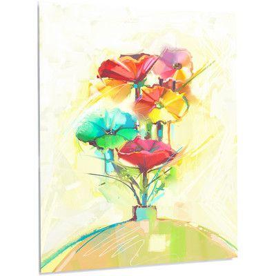 DesignArt \'Spring Flowers Bouquet in a Vase\' Graphic Art on Metal ...