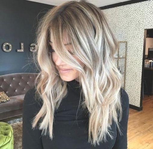 Frisuren 2018 frauen lang blond
