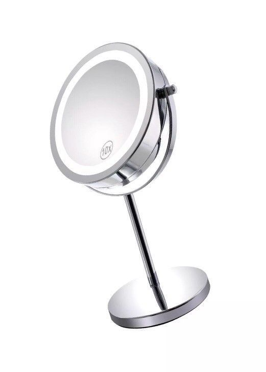 Gospire 10x Magnified Lighted Makeup Mirror Double Sided Round Magnifying Mir Ebay Makeup Mirror Mirror Makeup Mirror With Lights