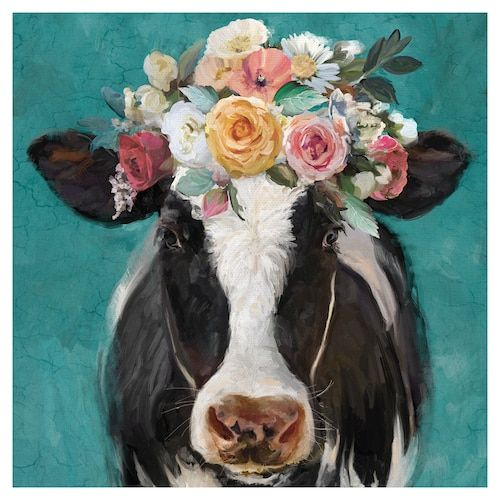 Fine Art Canvas Fancy Cows Ii Canvas Wall Art In 2020 Cow Canvas Cow Painting Cow Paintings On Canvas