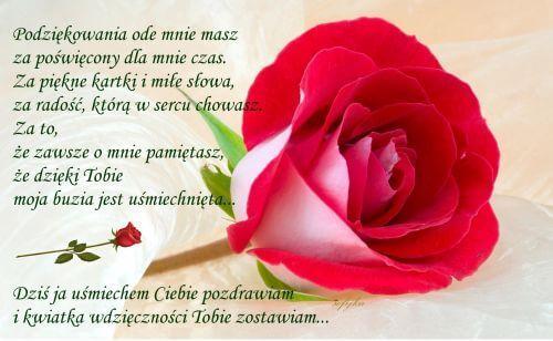 Pin By Wanda Swoboda On Podziekowania Birthday Quotes Rose Flowers
