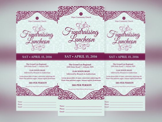 Love awesome design? Feast your eyes on Fundraising #Luncheon - banquet ticket template