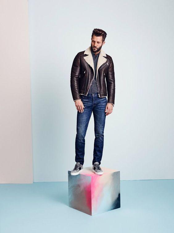 jacquet de couro forte + all star nunca sai de moda