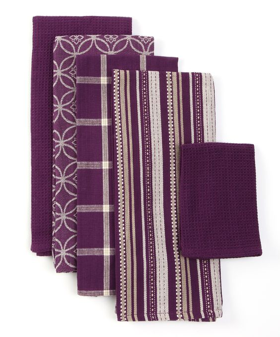 Purple Kitchen Towel Set  Purple kitchen  Pinterest  Purple Kitchen