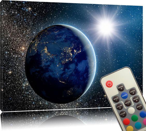 Farbe - LED Leinwandbild - Erde - ein Designerstück von lightbox_multicolor bei…