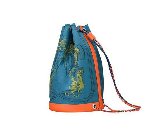 "hermes wallets prices - Soie-Cool Hermes sport chic bag in Galicia blue ""Brides de Gala ..."