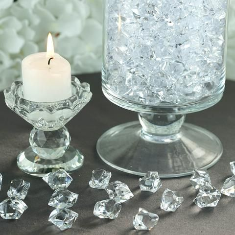 300 Pack Clear Large Acrylic Ice Bead Vase Fillers Table Decoration Vase Fillers Centerpiece Decorations Table Decorations