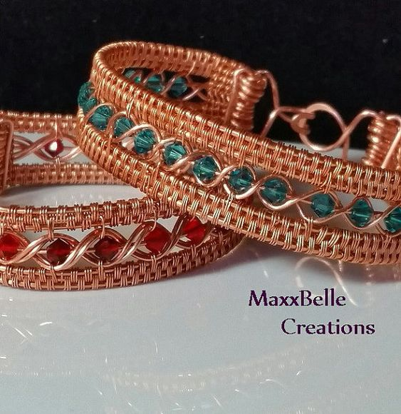 TUTORIAL Egyptian Wire Weave Bracelet by MaxxBelleCreations