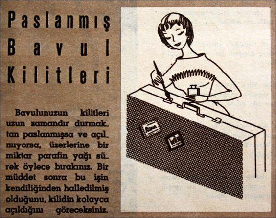Paslanmış bavul kilitleri 1962.