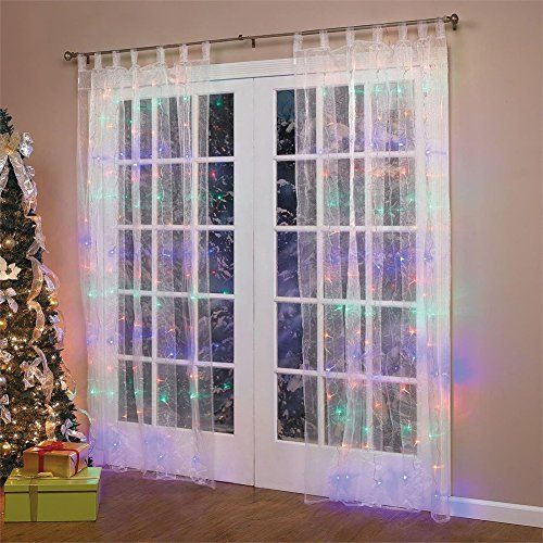 weihnachtsdeko fenster led vorhang wand eiszapfen lichterkette 300 leder innen au en beleuchtung. Black Bedroom Furniture Sets. Home Design Ideas