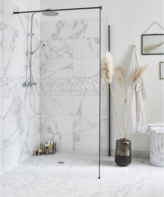Carrelage Sol Et Mur Intenso Effet Marbre Blanc Carrare Murano L 60 X L 60 Cm Marbre Blanc Salle De Bains Marbre Blanc Carrelage Marbre Blanc
