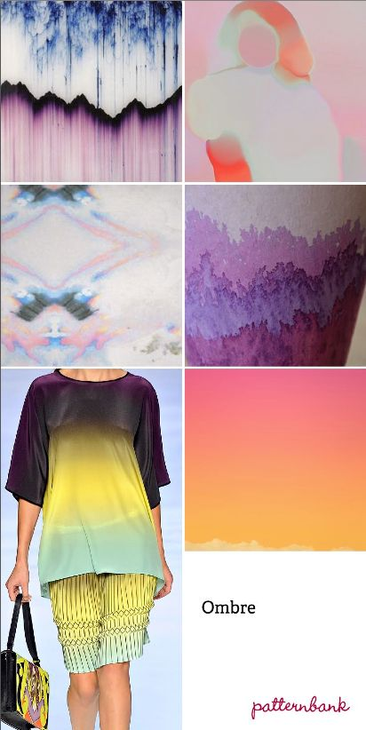 2013 Spring/Summer trends. Patterns. Ombre.