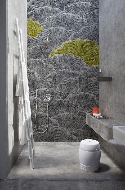 Contemporary Wallpaper Wall Deco Badezimmer Tapete Deko