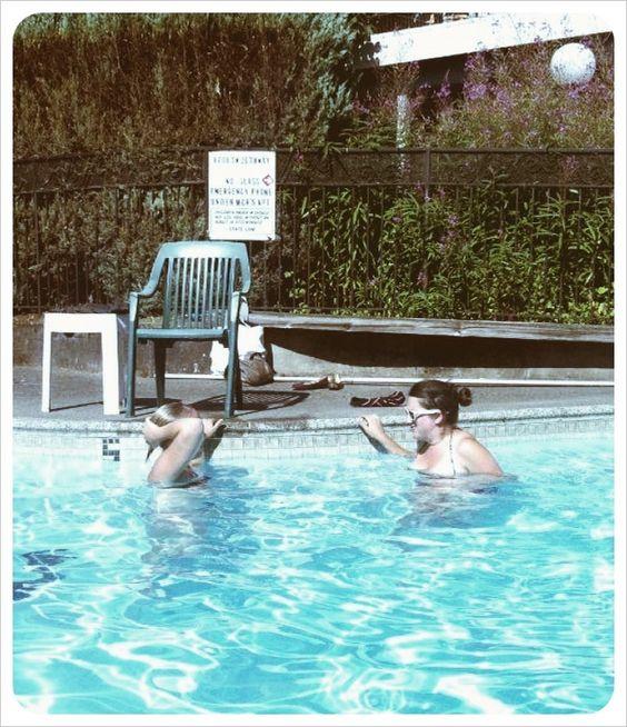 lazy pool days.