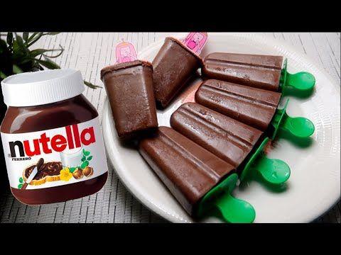 الذ آيس كريم نوتيلا بمكونين فقط بدون ماكينه رووووعه Youtube Nutella Ice Cream Cream