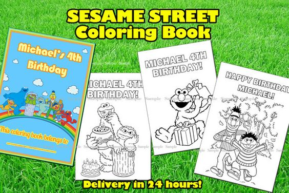 SESAME STREET COLORING book.Sesame Street printable book.Sesame Street birthday party.Sesame Street party favor
