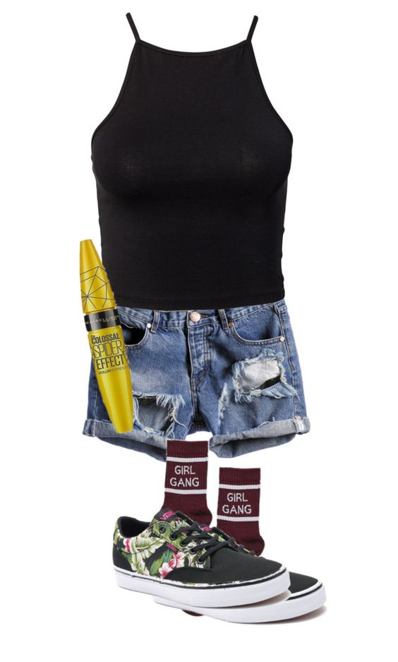 """I thought heaven can't help me now, nothing lasts forever"" by laurenatria11 on Polyvore featuring NLY Trend, Topshop, Vans and Maybelline"