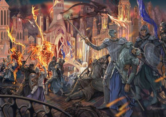 The Fall Of Gondolin By Mysilvergreen Middle Earth Art Tolkien Art History Of Middle Earth
