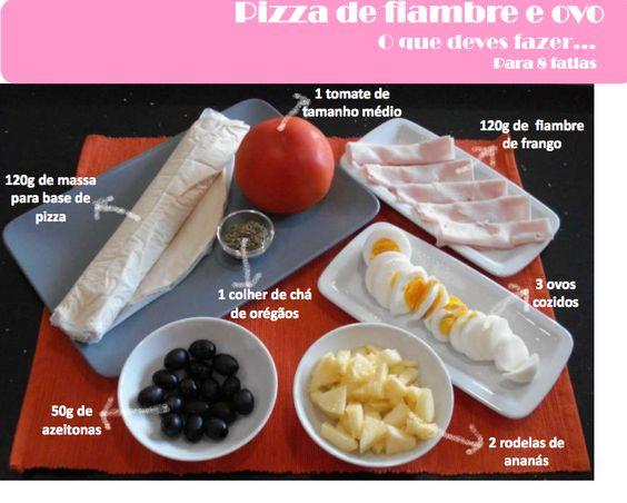 A Associação Portuguesa de Nutricionistas aconselha-te esta Pizza de Fiambre e Ovo