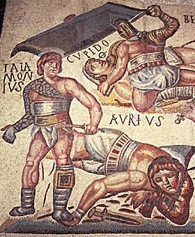 The main training schools for gladiators were in Capua, south of Rome. Some gladiators were volunteers (mostly freedmen or very low classes of freeborn men) who chose to take on the status of a slave for the monetary rewards or the fame and excitement. Anyone who became a gladiator was automatically infamis, beneath the law and by definition not a respectable citizen. A small number of upper-class men competed in the arena but they constituted a special, esoteric form of entertainment