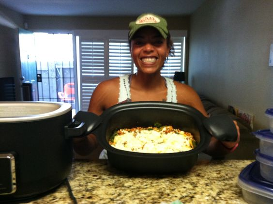 Skillet Lasagna made w ground turkey in the Ninja cooking machine!