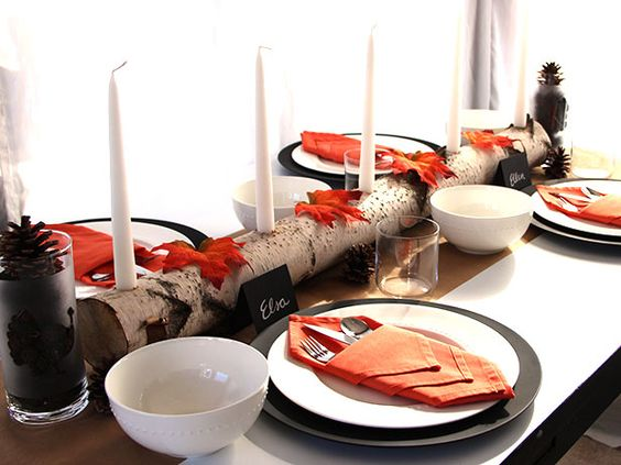 Tablescape for Thanksgiving or Any Celebration >> http://blog.diynetwork.com/maderemade/2013/11/15/quick-and-easy-ideas-to-dress-up-your-thanksgiving-table?soc=pinterest
