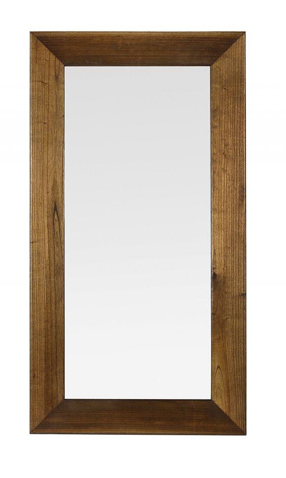 Ce superbe miroir est fabriqu partir d 39 un bois exotique for Miroir exotique