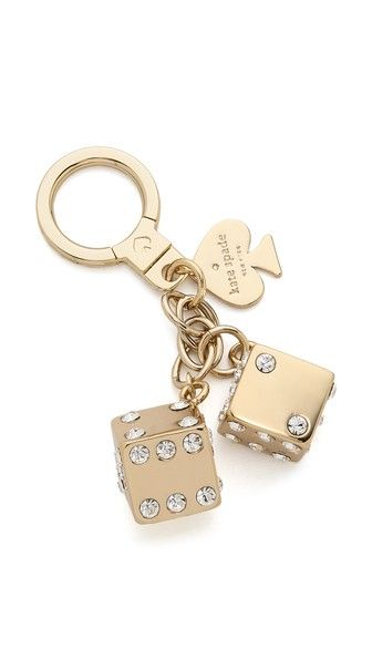 Kate Spade New York Lucky Streak Dice Keychain