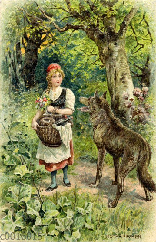 Rotkappchen Und Der Wolf Im Wald Quagga Illustrations Rotkappchen Und Der Wolf Rotkappchen Kleiner Roter