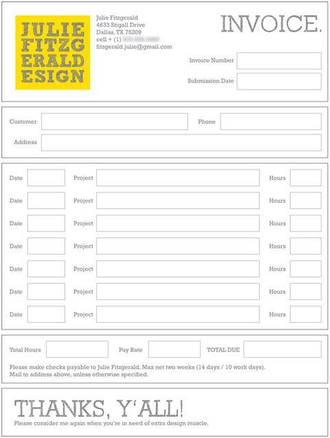 9 best bizzzzness images on Pinterest Invoice design, Invoice - graphic design invoice template