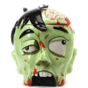 zombie head cookie jar!